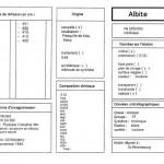 Albite. Orientation 010. Table (IRS)